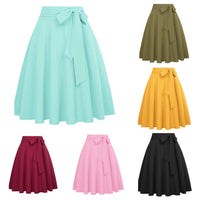 High Waist Flared Skirt, Sizes Small - XLarge