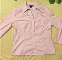 Ann Taylor Oxford Button Up Blouse, US Size Medium