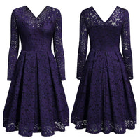 Formal Lace Floral Cocktail Dress, Sizes XS - 2XL (US 0 - 18)