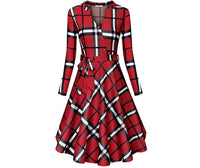 Decorative Plaid Dresses, Sizes Small - 3XLarge