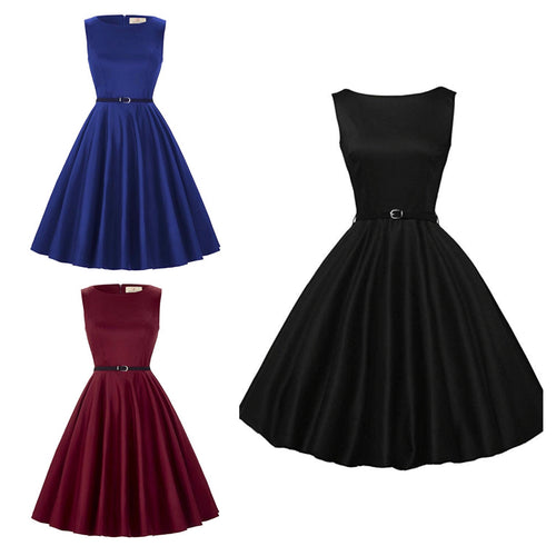Vintage Inspired Boatneck Dresses, Sizes XSmall - 4XPlus
