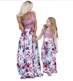 Mommy & Me Purple Floral Dress