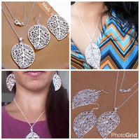 ✨Silver Plated Leaf Shaped Jewelry Set ✨