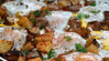 Potato, Caramelized Onion & Roasted Red Pepper Hash With Baked Eggs & UP Olive Oil