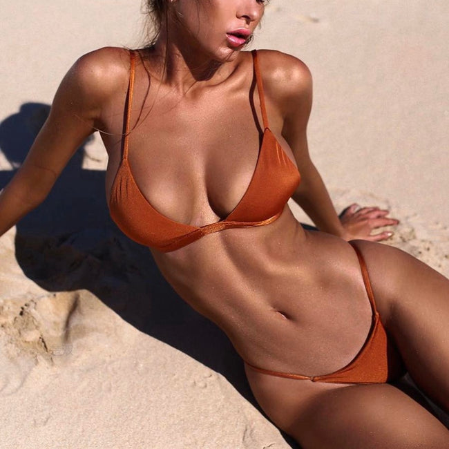 Loren Micro Bikini Set - Orange