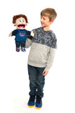 "14"" God Answers Prayers Boy Puppet"