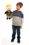 "14""Jesus is my Superhero Boy Puppet"