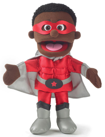 "14"" Superhero Boy Puppet Black"