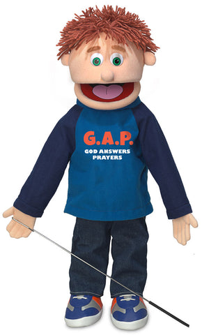 "25"" God Answers Prayers Boy Puppet"