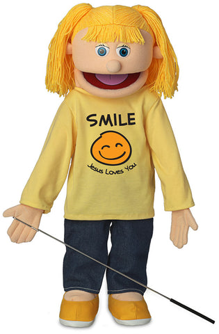 "25""Smile Jesus Loves You Girl Puppet"