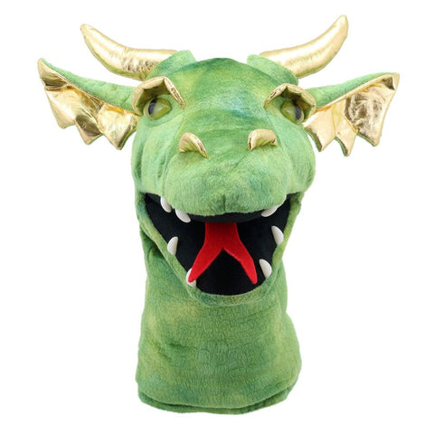 "16"" Large Green Dragon Head Puppet"