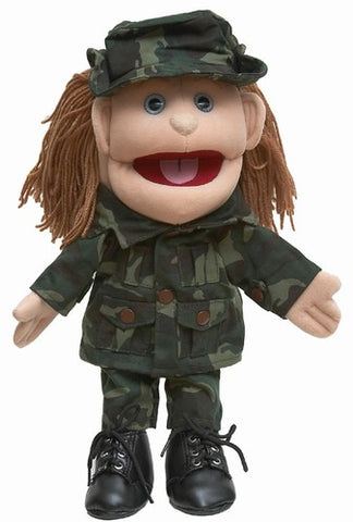 "14"" Army Girl Glove Puppet"