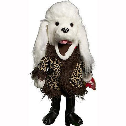 "Sunny Toys 14"" Poodle In Fur Coat"