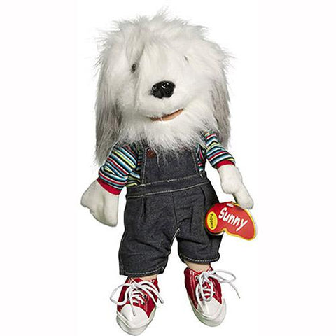 "Sunny Toys 14"" Sheepdog In Rainbow Top"