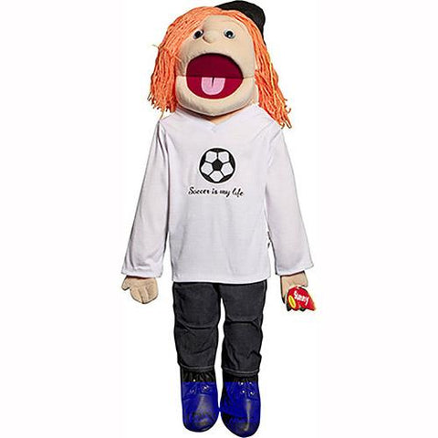 "Sunny Toys 28"" Red-Haired Girl Soccer"