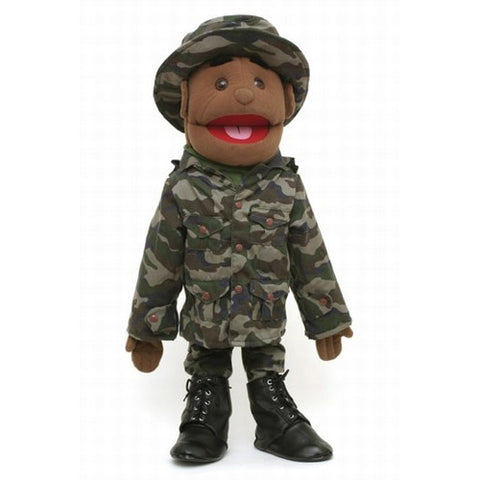 "28"" Army Boy Puppet Black"