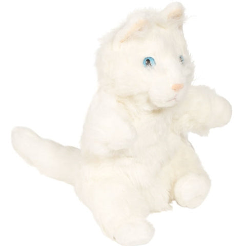 "12"" Cat Puppet White"