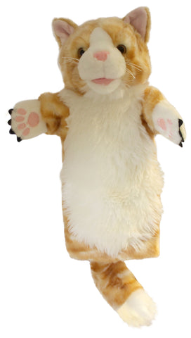 "15"" Cat Orange Puppet (Long Sleeve)"