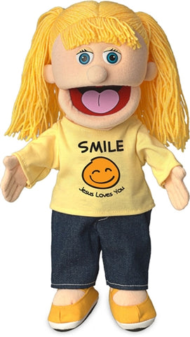 "14""Smile Jesus Loves You Girl Puppet"
