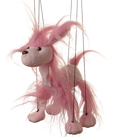 "8"" Pink Poodle Marionette Small"