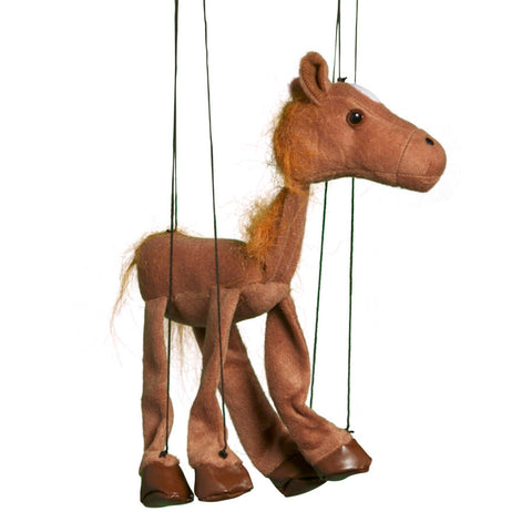 "38"" Brown Horse Marionette Large"