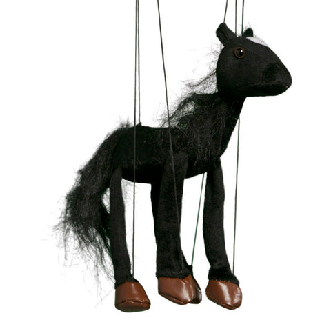 "8"" Black Horse Marionette Small"
