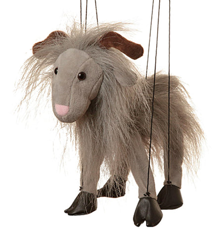 "8"" Grey Goat Marionette Small"