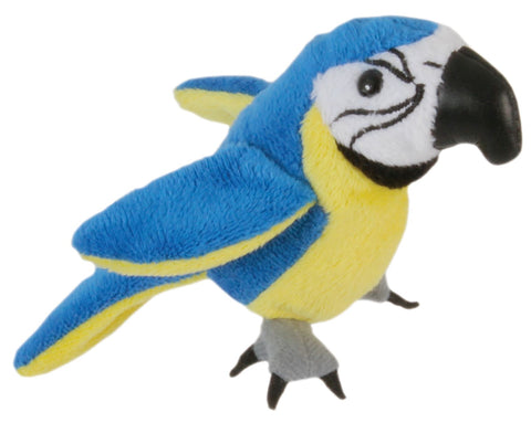 "6"" Macaw-Blue & Gold Finger Puppet"