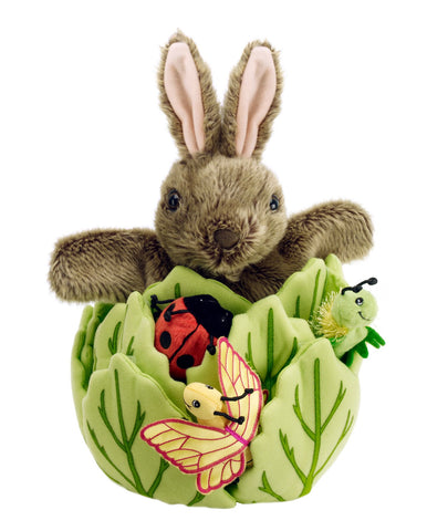 Rabbit in Lettuce  with 3 Finger Puppets