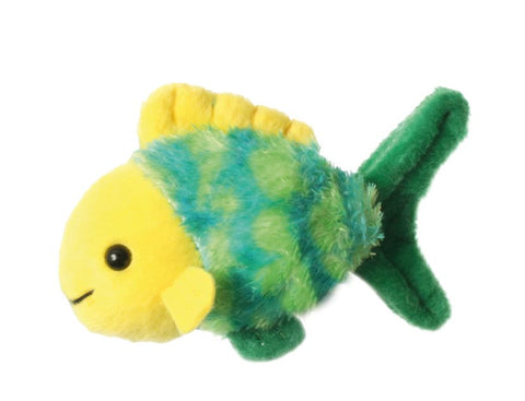 "6"" Fish- Green & Yellow Finger Puppet"