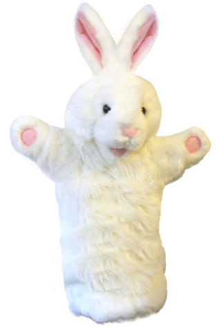 "15"" Rabbit White Puppet (Long Sleeve)"