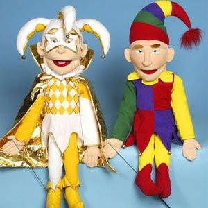 Sunny & Co Toys Sculpted Face Puppet (Jester in Gold Color Only) - Peazz Toys