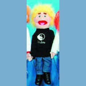 "Sunny & Co Toys GS4521 28"" Yellow-haired boy in black - Peazz Toys"