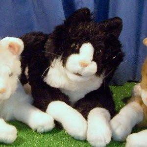Sunny & Co Toys NP8076M Sunny Toys NP8076M 15 In. Cat - Black White, Animal Puppet - Peazz Toys