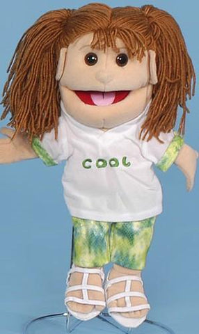 "14"" Cool Girl Glove Puppet w/ Sandals - Peazz Toys"