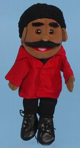 "14"" Dad Glove Puppet Black - Puppethut"