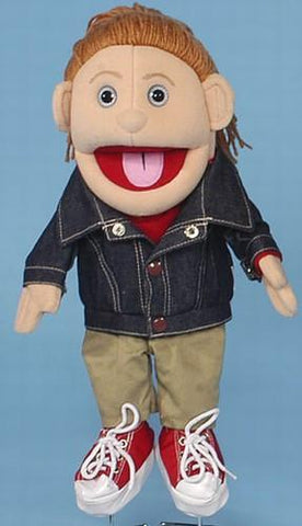 "14"" Denim Jacket Girl Glove Puppet - Puppethut"