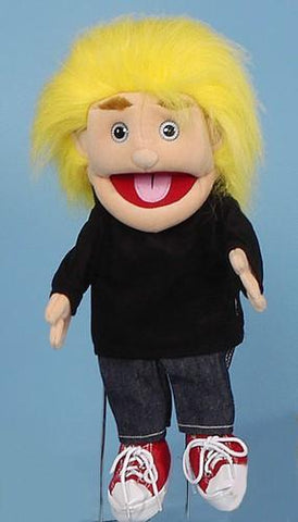 "14"" Fuzzy Boy Glove Puppet w/ Yellow Hair - Puppethut"