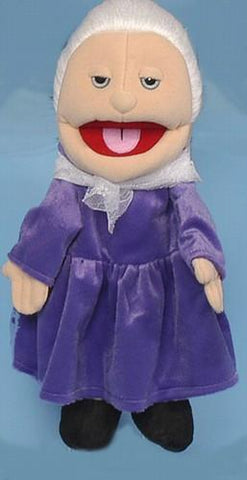 "14"" Grandmother Glove Puppet White - Puppethut"