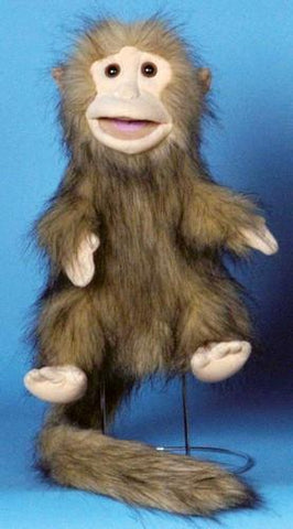 "12"" Brown Monkey Glove Puppet - Puppethut"