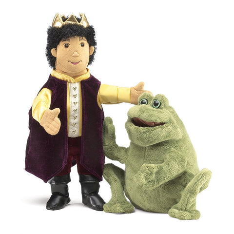 Folkmanis 2826 Frog Prince Reversible Puppet - Puppethut