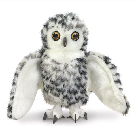 Folkmanis 3047 Owl, Snowy Small - Puppethut