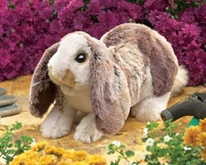 Folkmanis 3048 Rabbit, Lop Baby - Puppethut
