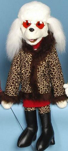 "28"" Poodle Full Body Puppet High Society - Puppethut"