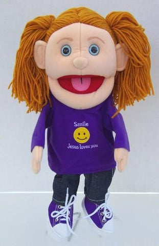 "14"" Smile Jesus Loves You Girl Glove Puppet - Peazz Toys"