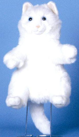 "12"" Cat Puppet White - Puppethut"