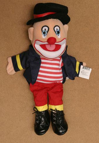 "14"" Clown Glove Puppet w/ Hat - Puppethut"