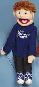 "28"" G.A.P. God Answers Prayer Boy Puppet - Puppethut"
