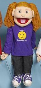 "28"" Smile, Jesus Loves You! Girl Puppet - Puppethut"