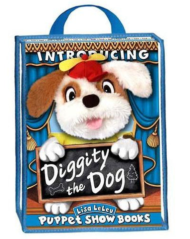 Lisa LeLeu Studios W12345 Puppet Play Set - Diggity The Dog - Peazz Toys